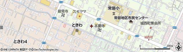 三重県四日市市城西町周辺の地図