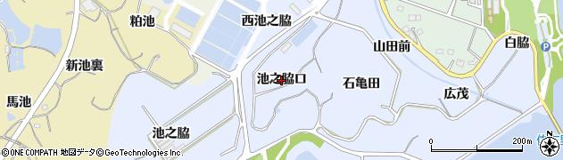 愛知県知多市佐布里(池之脇口)周辺の地図