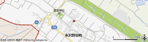 三重県四日市市水沢野田町周辺の地図