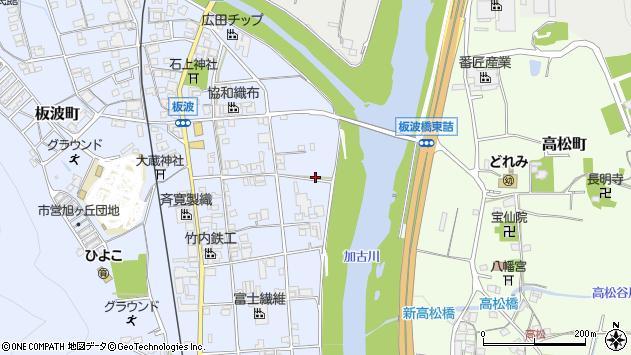 〒677-0056 兵庫県西脇市板波町の地図