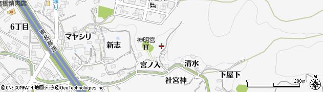 愛知県岡崎市小呂町周辺の地図