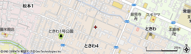 三重県四日市市ときわ周辺の地図