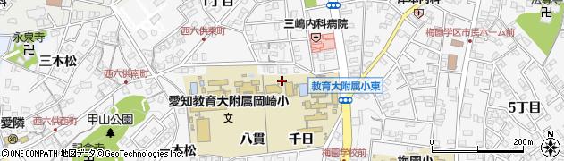 愛知県岡崎市六供町(南佐助)周辺の地図