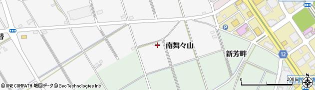 愛知県安城市二本木町(南舞々山)周辺の地図