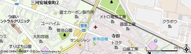 愛知県安城市横山町(管池)周辺の地図