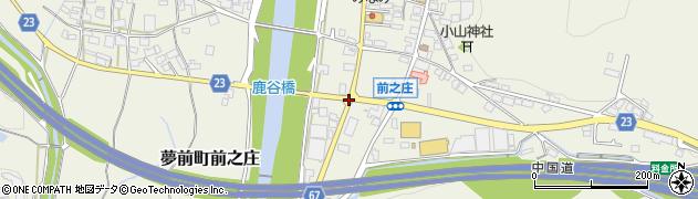 前之庄西周辺の地図