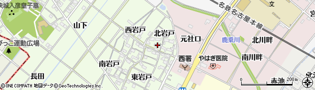 愛知県岡崎市西本郷町(北岩戸)周辺の地図