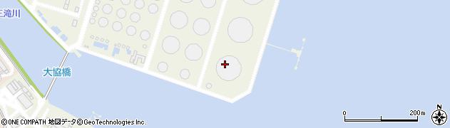 三重県四日市市大協町周辺の地図