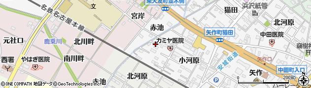 愛知県岡崎市矢作町(赤池)周辺の地図