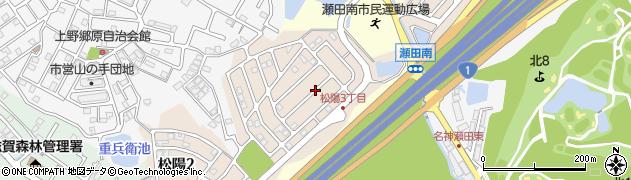 滋賀県大津市松陽周辺の地図