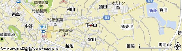 愛知県知多市岡田(下ノ山)周辺の地図