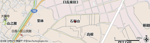 愛知県知多市日長(石塚山)周辺の地図