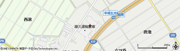 愛知県刈谷市半城土町(大組)周辺の地図