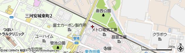 愛知県安城市横山町(狐穴)周辺の地図