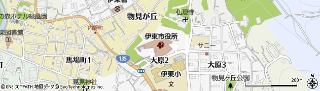 静岡県伊東市周辺の地図