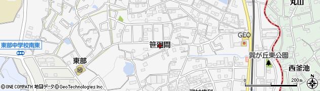 愛知県知多市八幡(笹廻間)周辺の地図