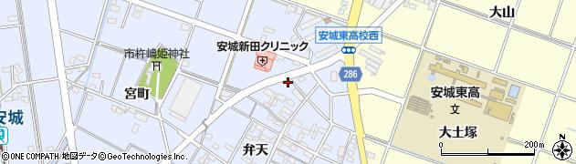 愛知県安城市新田町(縦町)周辺の地図