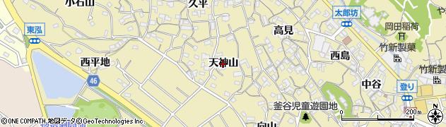 愛知県知多市岡田(天神山)周辺の地図