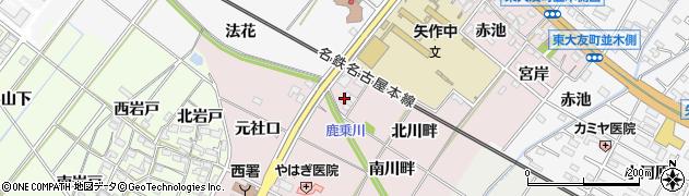 愛知県岡崎市暮戸町(北川畔)周辺の地図