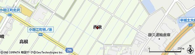 愛知県刈谷市小垣江町(西湫)周辺の地図