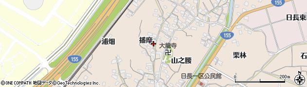 愛知県知多市日長(播摩)周辺の地図