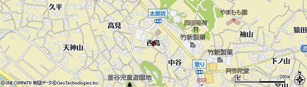 愛知県知多市岡田(西島)周辺の地図