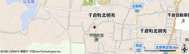 千葉県南房総市千倉町北朝夷周辺の地図