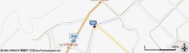 愛知県新城市作手清岳(ジロエ畑)周辺の地図