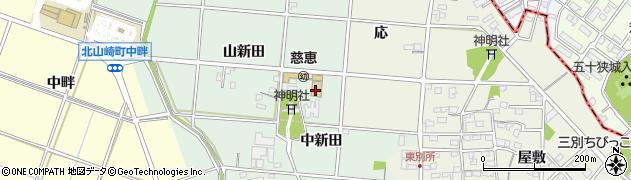 愛知県安城市西別所町(中新田)周辺の地図