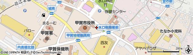 滋賀県甲賀市周辺の地図