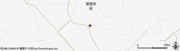 愛知県新城市作手清岳(中ノ坊)周辺の地図