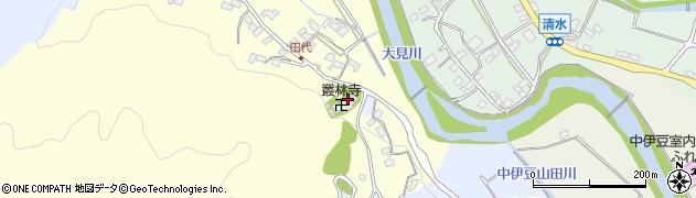 叢林寺周辺の地図