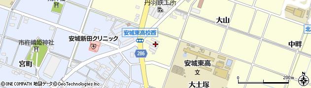 愛知県安城市北山崎町(大土塚)周辺の地図