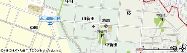 愛知県安城市西別所町(山新田)周辺の地図