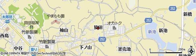 愛知県知多市岡田(猿田)周辺の地図