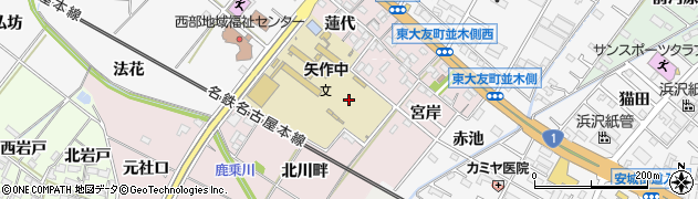 愛知県岡崎市暮戸町周辺の地図