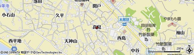 愛知県知多市岡田(高見)周辺の地図