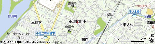 愛知県刈谷市小垣江町(中)周辺の地図