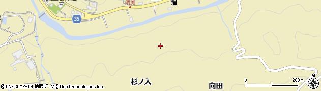 愛知県岡崎市須淵町(杉ノ入)周辺の地図