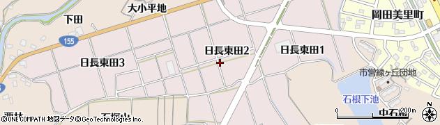 愛知県知多市日長東田周辺の地図