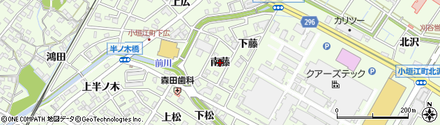 愛知県刈谷市小垣江町(南藤)周辺の地図