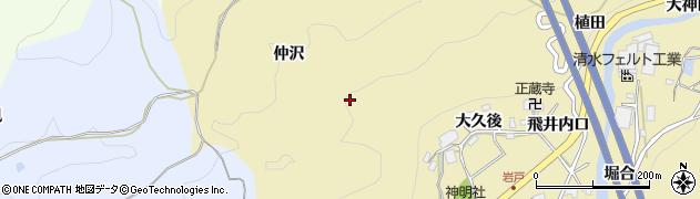 愛知県岡崎市岩戸町(仲沢)周辺の地図