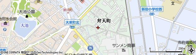 愛知県安城市弁天町周辺の地図