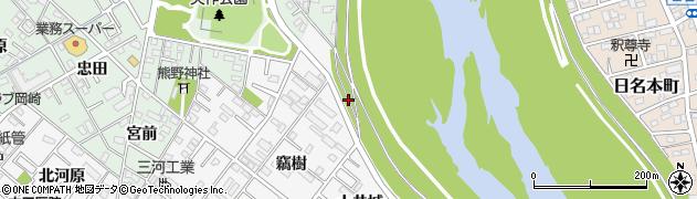 愛知県岡崎市矢作町(竊樹)周辺の地図