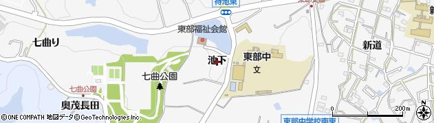 愛知県知多市八幡(池下)周辺の地図
