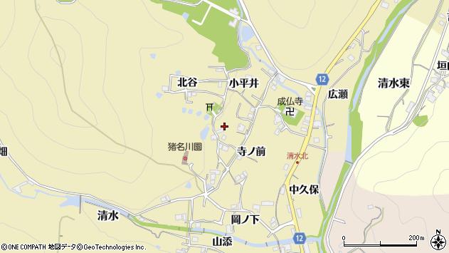 〒666-0214 兵庫県川辺郡猪名川町清水の地図