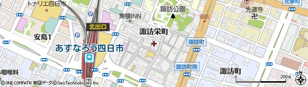 三重県四日市市諏訪栄町周辺の地図