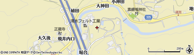 愛知県岡崎市須淵町(屋名平)周辺の地図