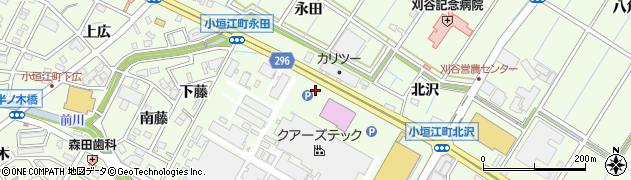 愛知県刈谷市小垣江町(北藤)周辺の地図