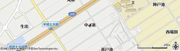 愛知県刈谷市半城土町(中ノ湫)周辺の地図